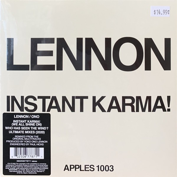 "Instant Karma! 7"" Single RSD2020"
