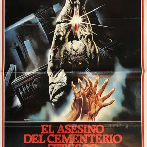 El Asesino del Cementerio Etrusco Cartel original 1981