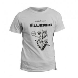 Camiseta MUJERES azul blanca