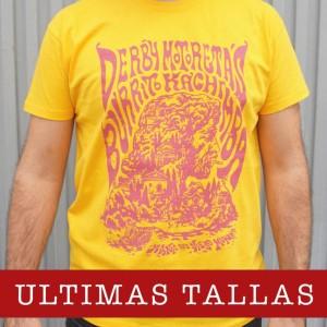 Camiseta Derby Motoretas Burrito Kachimba amarilla chico