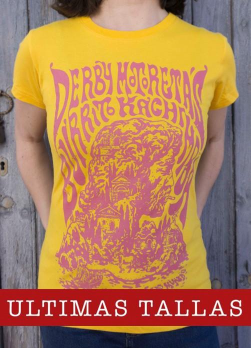 Camiseta Derby Motoretas Burrito Kachimba amarilla chica