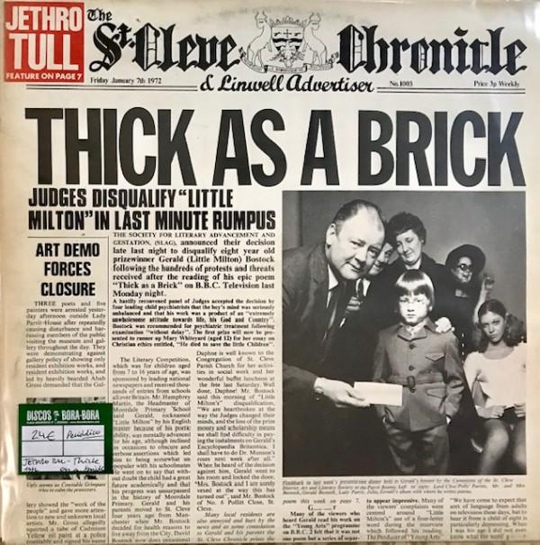 Thick as a brick Lp (Periódico) Segunda mano