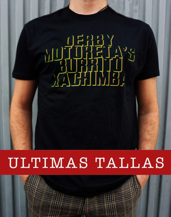 Camiseta Derby Motoretas Burrito Kachimba negra chico