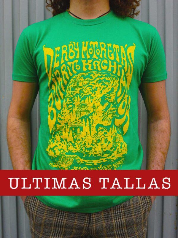 Camiseta Derby Motoretas Burrito Kachimba verde chico